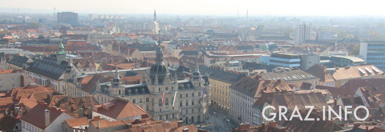 Titelbild: Blick über Graz